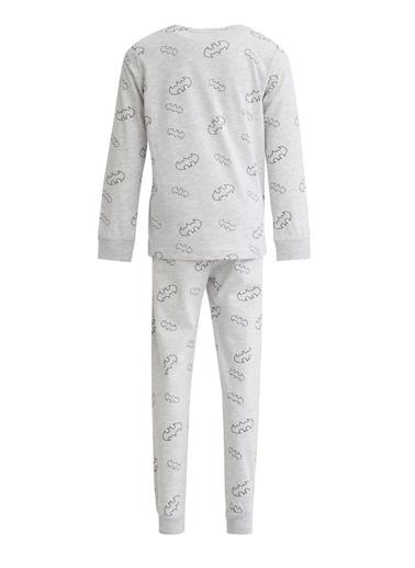DeFacto Erkek Çocuk Batman Lisanslı Pijama Takımı Gri